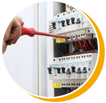 Electrical switchboard with electrician